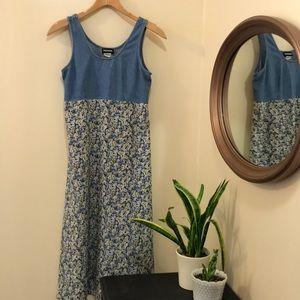 Vintage 90's Denim and Cotton Dress